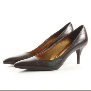 "COACH Brown Leather ""Adora"" Pump - Size 8"